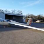 Grob Twin Astir at hanger.